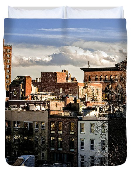 Manhattan From The Whitney Duvet Cover