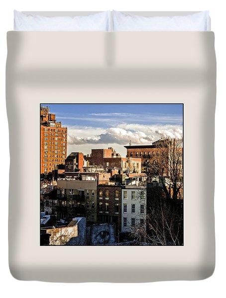 Manhattan From The Whitney Duvet Cover