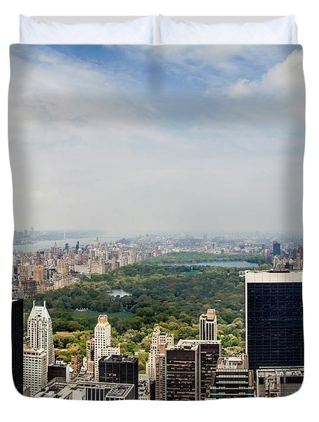 Manhattan Haze Duvet Cover by Az Jackson