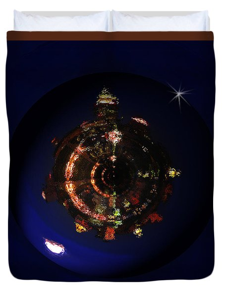 Manhattan Island Moonlight Duvet Cover