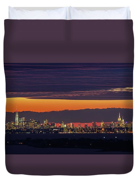 Manhattan Lights Duvet Cover