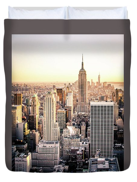 Manhattan Duvet Cover by Michael Weber