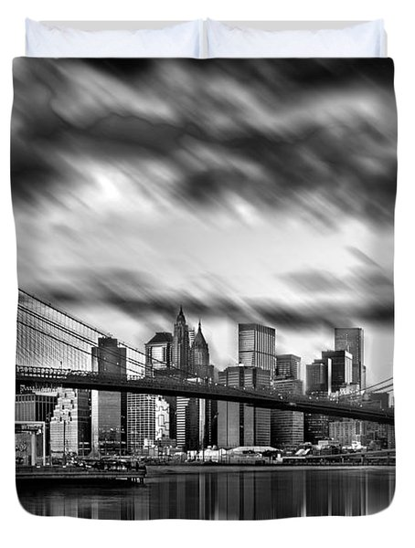Manhattan Moods Duvet Cover by Az Jackson