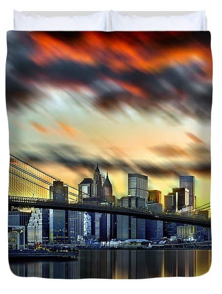 Manhattan Passion Duvet Cover by Az Jackson