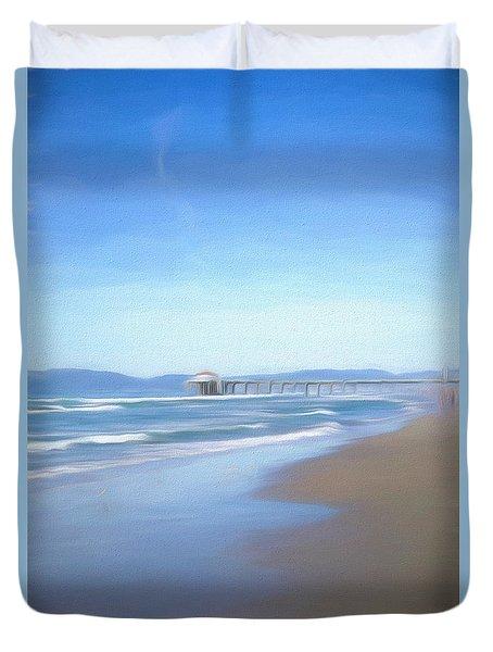 Manhattan Pier Art Duvet Cover