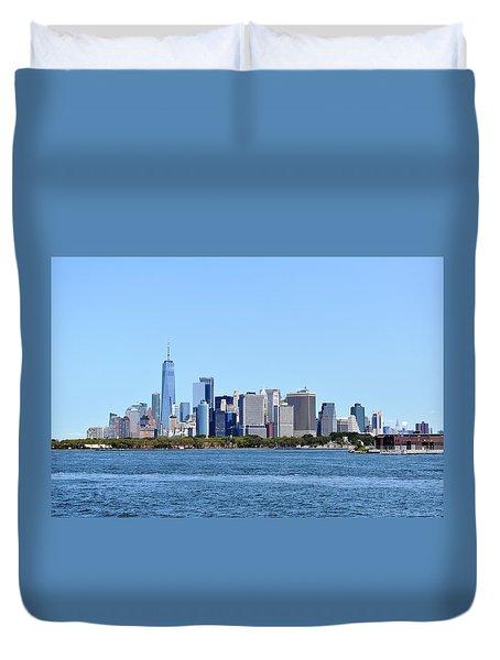 Manhattan Skyline 1 Duvet Cover