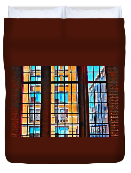 Manhattan Windows Duvet Cover