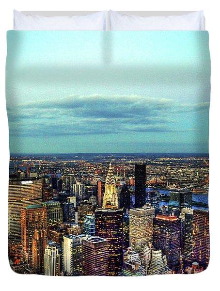 Manhattan's Upper East Side Duvet Cover by Randy Aveille