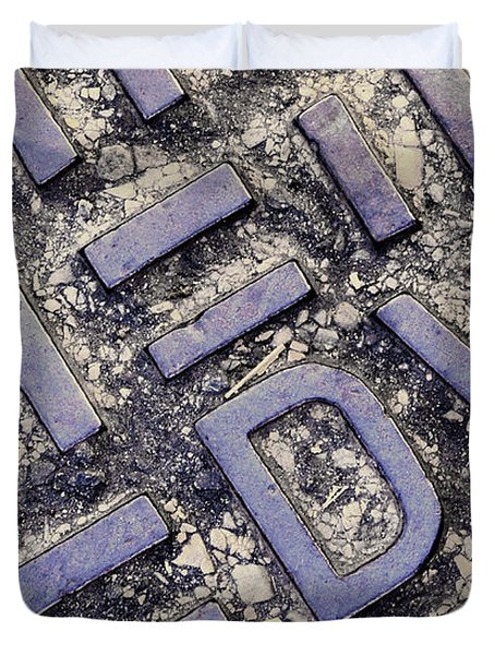 Manhole Cover Duvet Cover