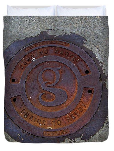 Manhole IIi Duvet Cover