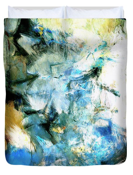 Duvet Cover featuring the painting Manifestation by Dominic Piperata