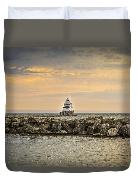 Manitowoc Lighthouse 2015-2 Duvet Cover