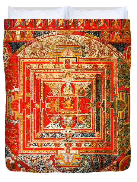 Manjuvara Thangka Mandala Duvet Cover