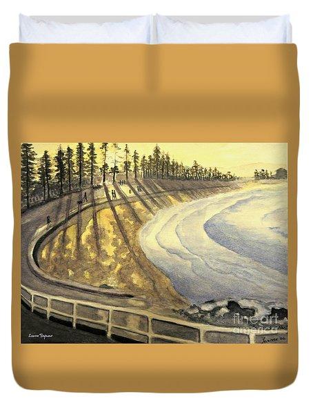 Manly Beach Sunset Duvet Cover