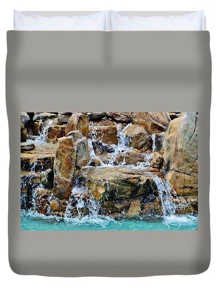 Manmade Waterfall II Duvet Cover