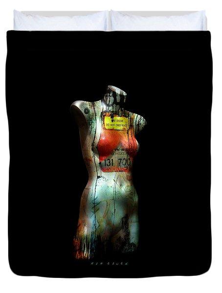 Mannequin Graffiti Duvet Cover