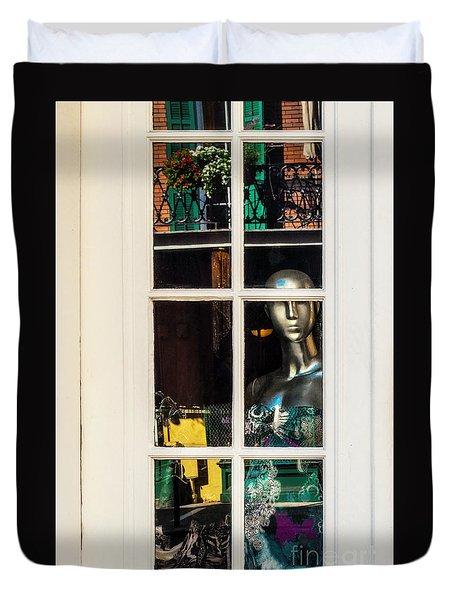Mannequin Reflecting Duvet Cover