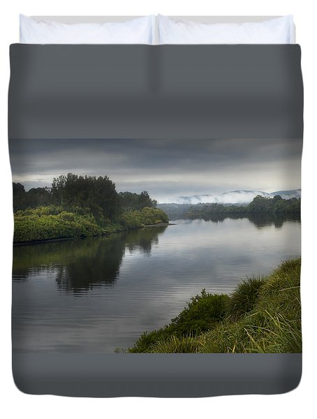 Duvet Cover featuring the photograph Manning River Taree 000001 by Kevin Chippindall