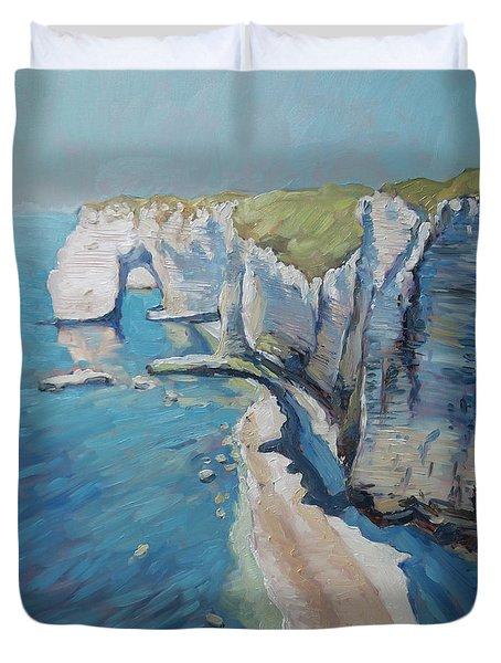 Manneport, The Cliffs At Etretat Duvet Cover
