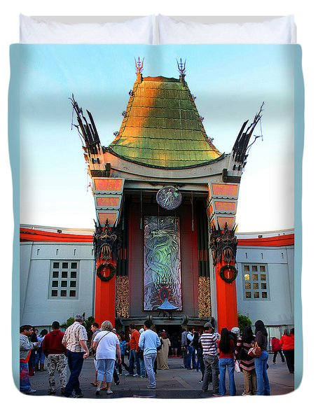 Mann's Chinese Theatre Hollywood California Duvet Cover