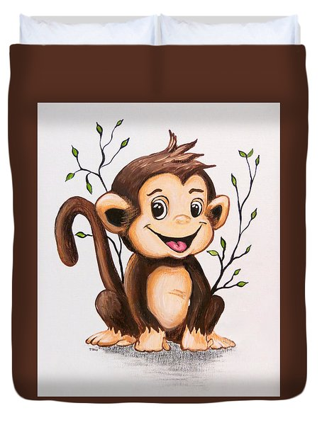 Manny The Monkey Duvet Cover