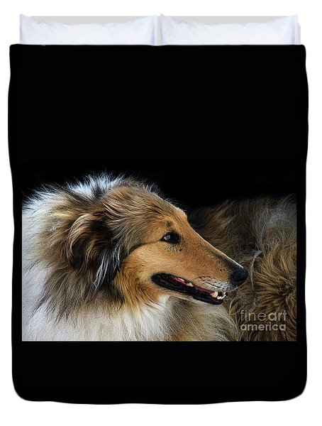 Man's Best Friend Duvet Cover by Bob Christopher