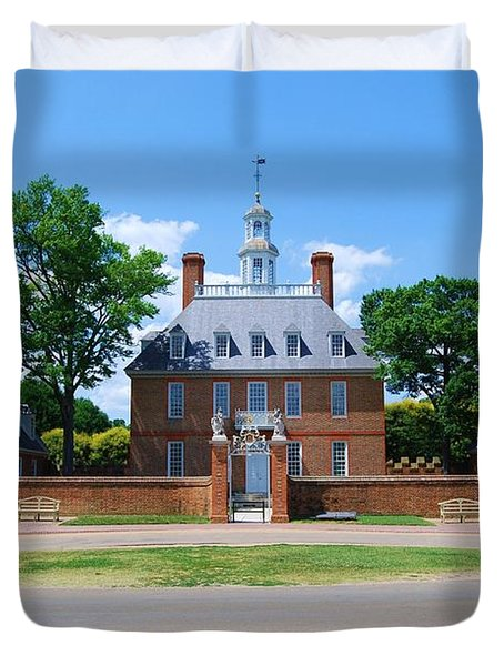 Duvet Cover featuring the photograph Mansion by Eric Liller