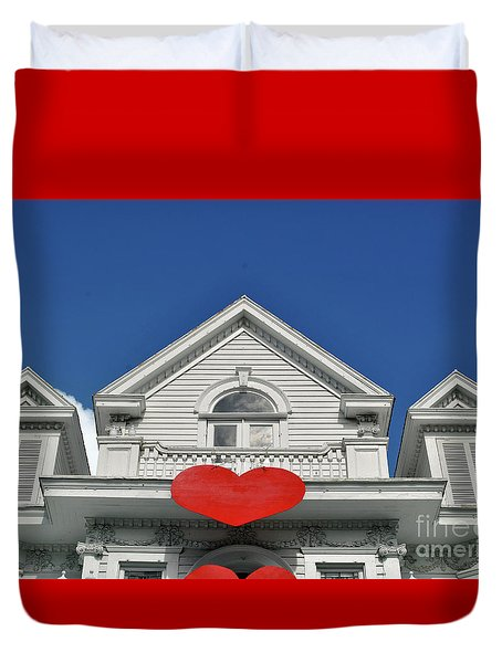Duvet Cover featuring the photograph Mansion Of Love by Jost Houk