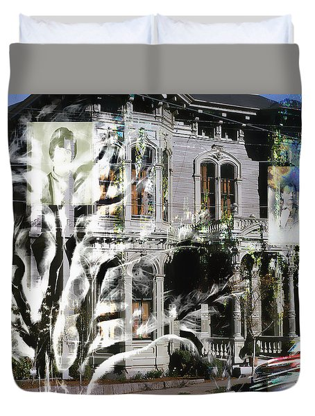 Mansion Of Obsession Duvet Cover by Cathy Anderson