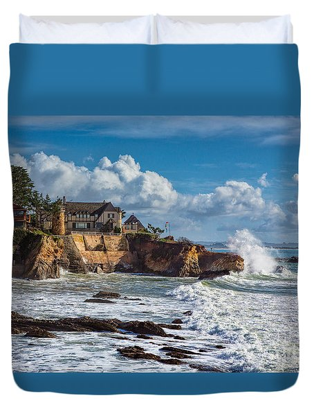 Mansion On The Cliffs Duvet Cover