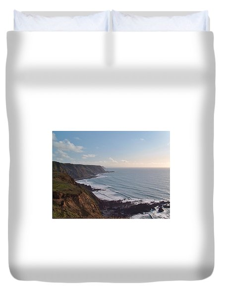 Mansley Cliff And Gull Rock From Longpeak Duvet Cover
