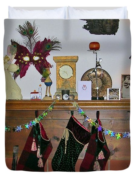 Mantel With Mask Duvet Cover