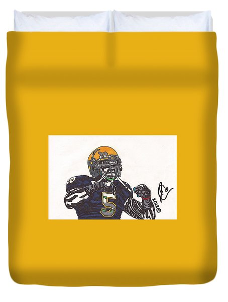 Manti Te'o 1 Duvet Cover by Jeremiah Colley