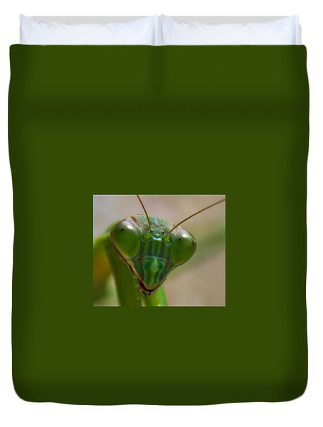 Mantis Face Duvet Cover by Jonny D