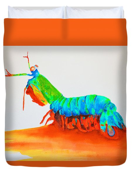 Mantis Shrimp Duvet Cover