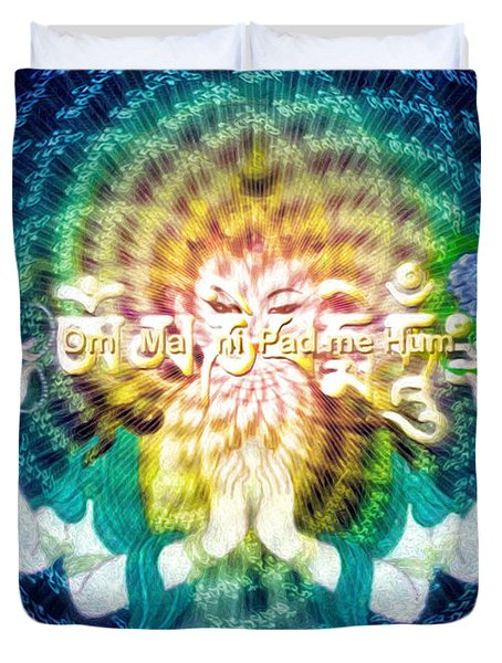 Mantra Of Compassion Duvet Cover
