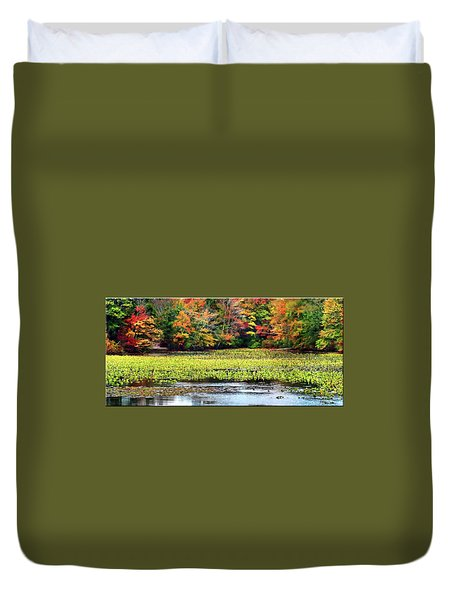 Many Colors Of Autumn Duvet Cover