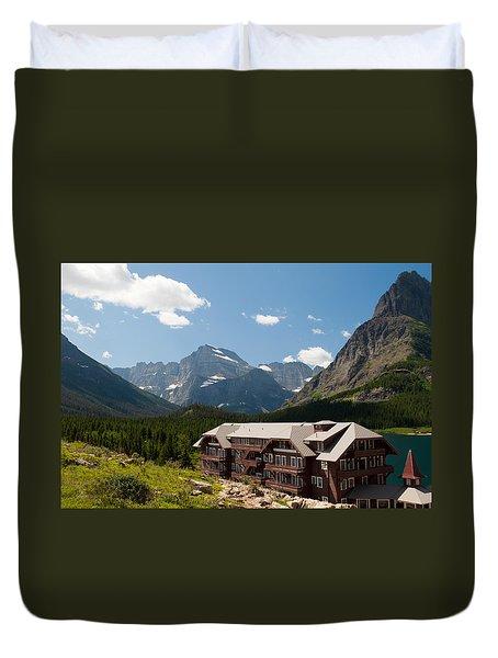 Many Glacier Hotel Duvet Cover