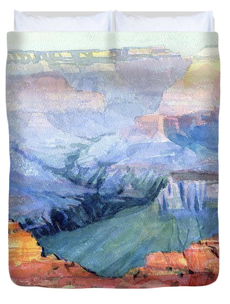 Duvet Cover featuring the painting Many Hues by Steve Henderson