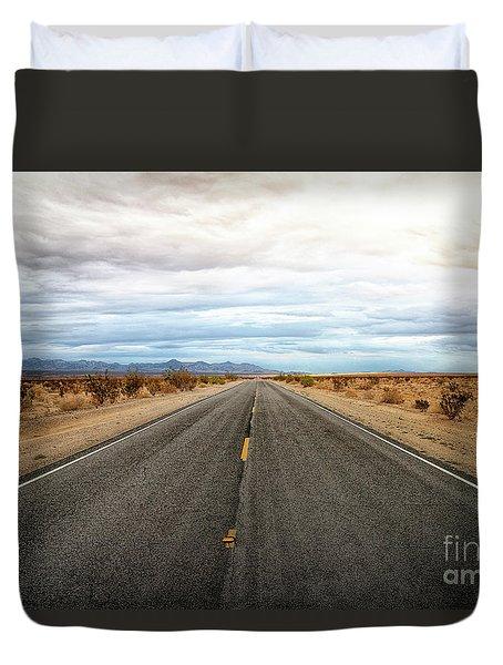 Many Miles Through Mojave Desert Duvet Cover