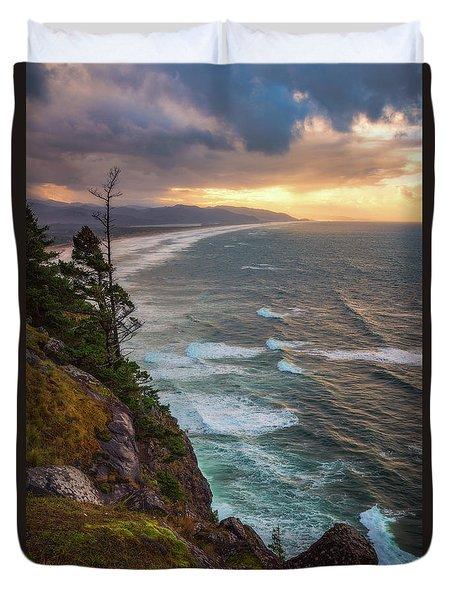 Duvet Cover featuring the photograph Manzanita Sun by Darren White