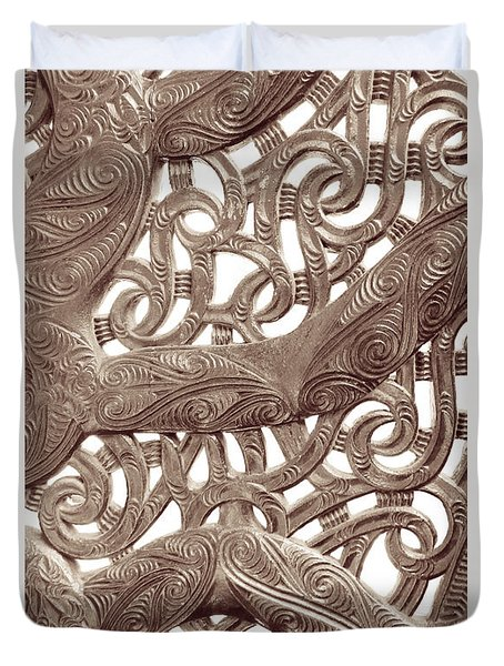 Maori Abstract Duvet Cover