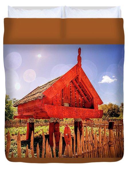 Maori Gathering Place Duvet Cover
