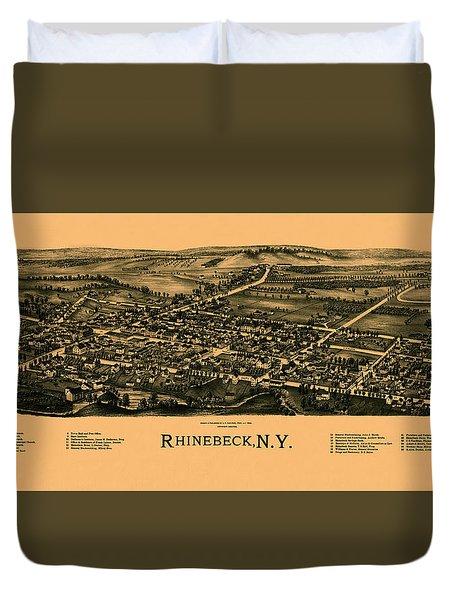 Map Of Rhinebeck 1890 Duvet Cover