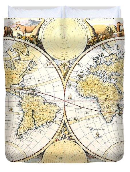 Map Of The World Duvet Cover