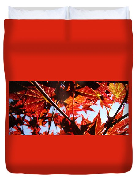 Maple Fire Duvet Cover