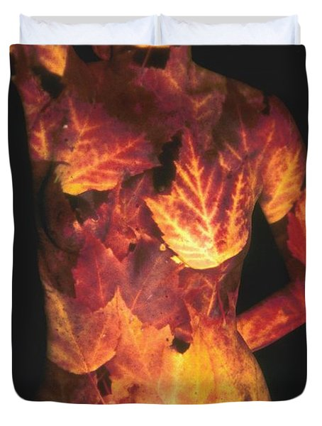 Maple Leaves Duvet Cover by Arla Patch