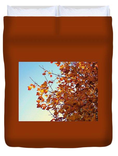 Maple Tree In October Duvet Cover