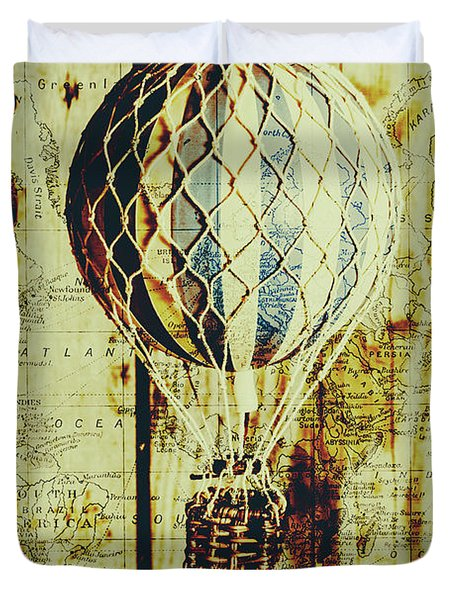 Mapping A Hot Air Balloon Duvet Cover