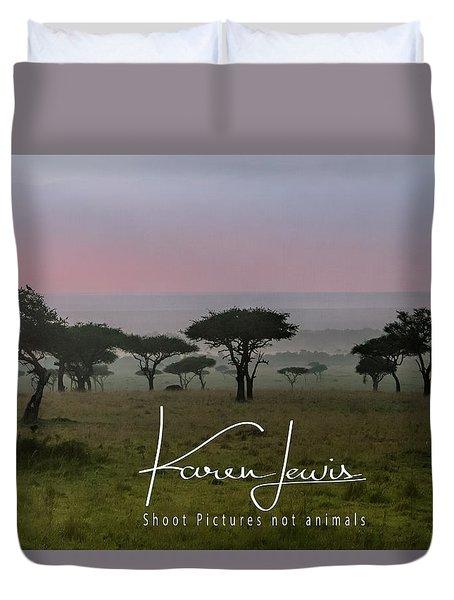 Duvet Cover featuring the photograph Mara Dawn by Karen Lewis